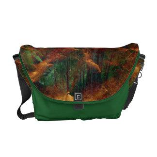 grüne braune Herbstglühenmedium null Bote-Tasche Kuriertaschen