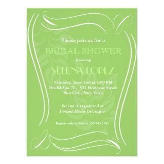 Grüne Brautpartyeinladungen Einladungskarten