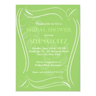 Grüne Brautpartyeinladungen 16,5 X 22,2 Cm Einladungskarte