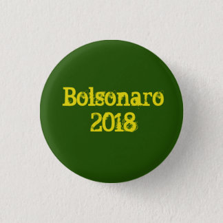 """Grüne Brosche """"Bolsonaro 2018 """" Runder Button 2,5 Cm"""
