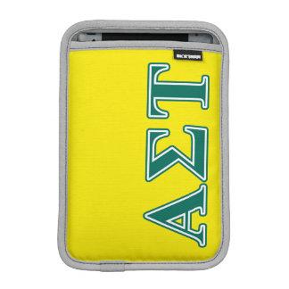 Grüne Buchstaben AlphasigmaTau iPad Mini Sleeve