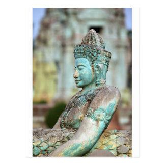 Grüne Buddha-Statue Kambodscha Postkarte