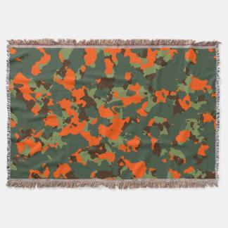 Grüne Camouflage mit Sicherheits-Flammen-Orange Decke