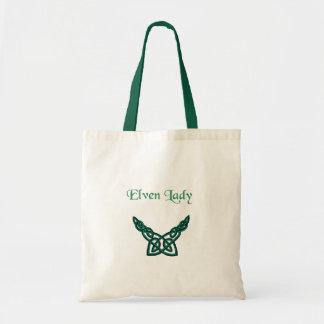 Grüne Celtic Elven Dame Tragetasche