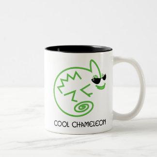 Grüne Chamäleon-Tasse Zweifarbige Tasse