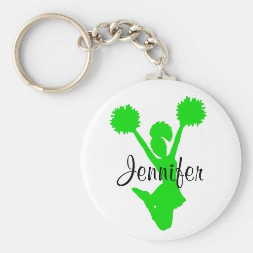 Grüne Cheerleader-Schlüsselkette Schlüsselbänder
