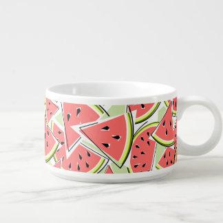 Grüne Chilischüssel der Wassermelone Kleine Suppentasse