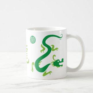 Grüne chinesische Drache-Schale Kaffeetasse