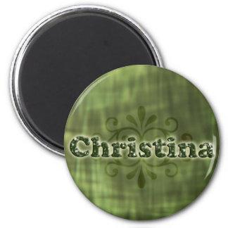 Grüne Christina Kühlschrankmagnete