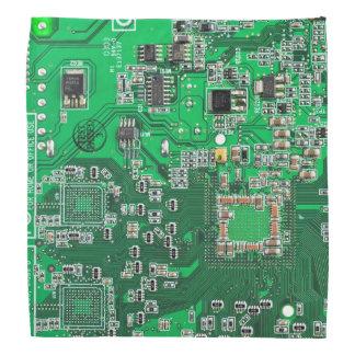 Grüne Computer-Aussenseiter-Leiterplatte Kopftuch