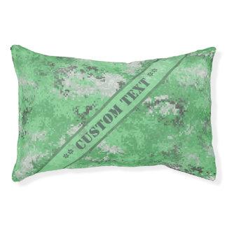 Grüne Digi Camouflage mit kundenspezifischem Text Haustierbett