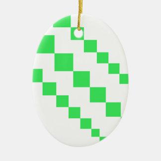 Grüne Drachen-Schwanz-Diamanten Keramik Ornament