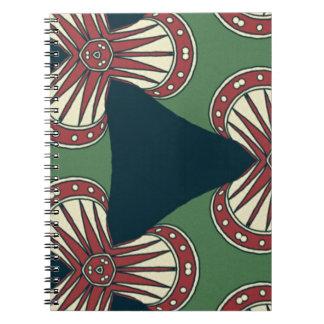 Grüne Dreiecke Spiral Notizblock