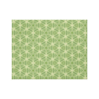 Grüne Efeu-Blatt-geometrischer Entwurfs-Leinwand Leinwanddruck
