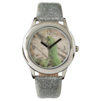 Grüne Eidechse Uhr