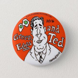 Grüne Eier und Ted Cruz für Präsidenten Runder Button 5,7 Cm
