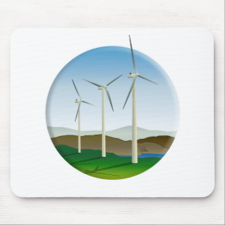 Grüne Energie-Windkraftanlage Mauspads