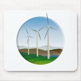 Grüne Energie-Windkraftanlage Mauspad