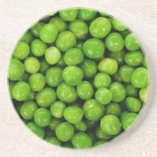 Grüne Erbsen Getränkeuntersetzer