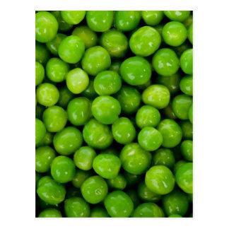 Grüne Erbsen-Hintergrund Postkarte