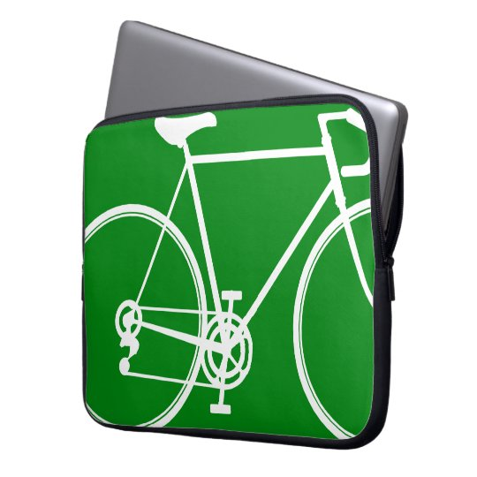 Grüne Fahrradentwurf Laptop-Hülse Laptop Schutzhülle