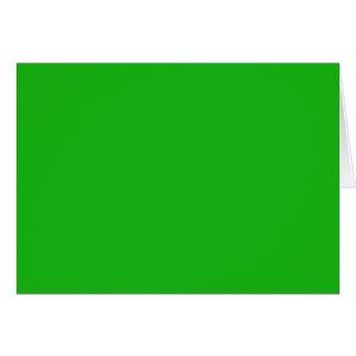 Grüne Farbe Grußkarte