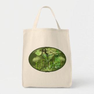 Grüne feenhafte Splashy Collage I Einkaufstasche