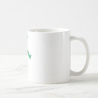 Grüne Felsen-Stern-Silhouette Tee Tassen