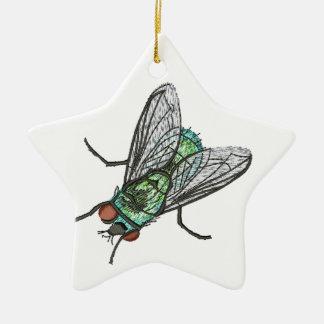 grüne Fliege - Nachahmung der Stickerei Keramik Ornament