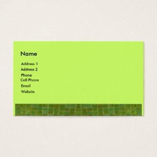 grüne Fliese Visitenkarte