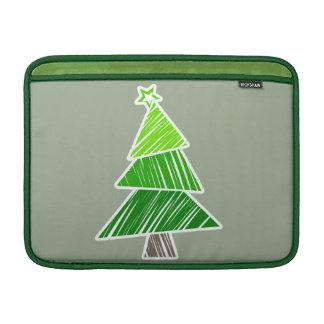 Grüne flüchtige Weihnachtsbaum-Rickshaw-Hülse Sleeve Fürs MacBook Air