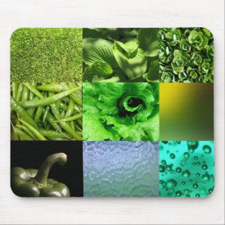 Grüne Foto-Collage Mousepads