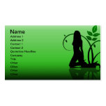 grüne Frau Visitenkarten Vorlage