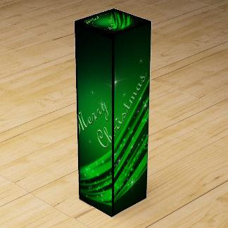 Grüne frohe Weihnachten Flaschen Geschenkverpackung