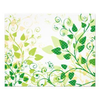 Grüne Frühlings-Blätter 11,4 X 14,2 Cm Flyer