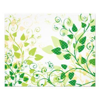 Grüne Frühlings-Blätter Flyers