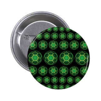 Grüne Fußbälle Runder Button 5,7 Cm