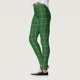 Grüne Gamaschen Tartan-Irlands Leggings