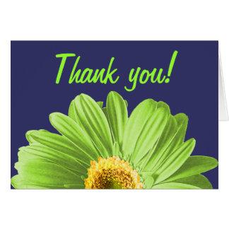 Grüne Gänseblümchen-Blume danken Ihnen oder Karte