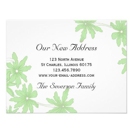 Grüne Gänseblümchen-neue Adresse Ankündigung