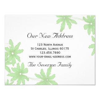 Grüne Gänseblümchen-neue Adresse Karte