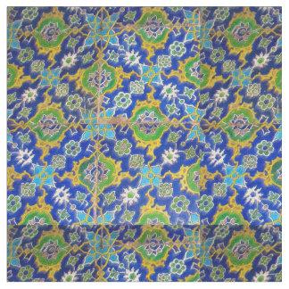 Grüne gelbe antike Iznik Glasur-Fliesen-Osmane-Ära Stoff