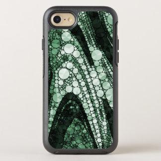 Grüne geometrische abstrakte Dreiecke und Kreise OtterBox Symmetry iPhone 8/7 Hülle