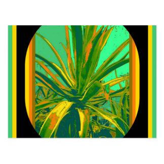 Grüne Geschenke Kakteen der amerikanischen Agave Postkarte