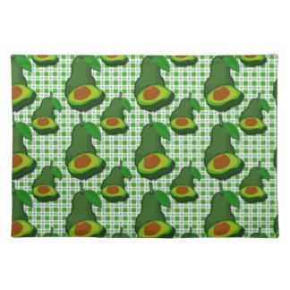 Grüne gesunde kundenspezifische Avocado im Stofftischset