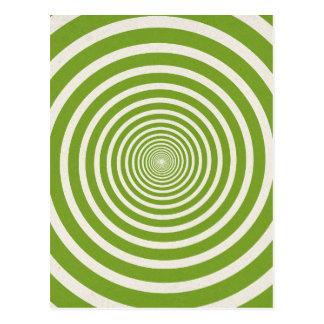 Grüne gewundene optische Täuschung Postkarte