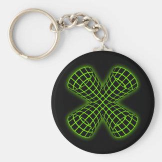 Grüne Gitter-Rohre Schlüsselanhänger