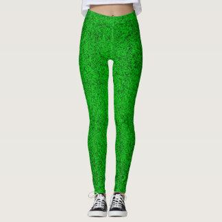 Grüne Glitter Gamaschen Leggings