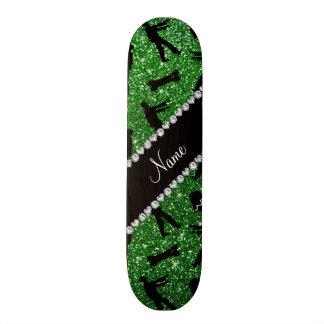 Grüne Glitterzombies des individuellen Namens Personalisierte Decks