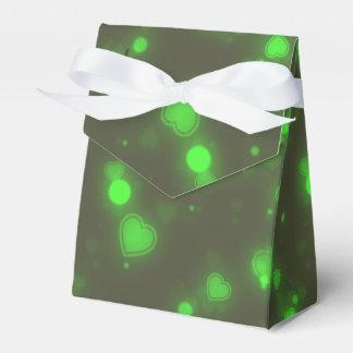 Grüne Glitzer-Blasen-Neonherzen Geschenkschachtel